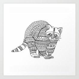 brightness's bear raccoon. Art Print