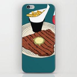 Heart-shaped steak! iPhone Skin