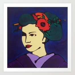 Geisha in Purple Art Print