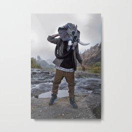 Sneakerhead Elephant Gas Mask by Freehand Profit Metal Print