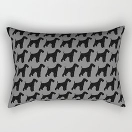 Airedale Terrier Silhouette(s) Rectangular Pillow