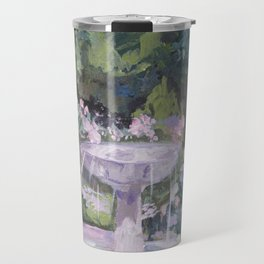Spring garden, impressionist painting, Sorolla interpretation Travel Mug