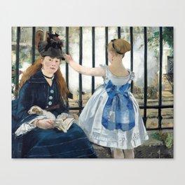 Edouard Manet - Le Chemin de fer (The Railroad) Canvas Print