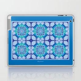 World Citizen Mandala Tiled - Blue Green Laptop & iPad Skin