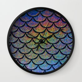 Cobalt Cantaloupe Scales Wall Clock