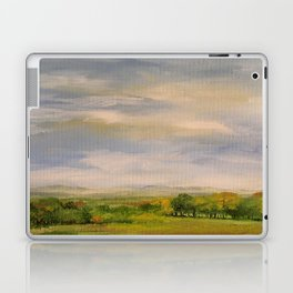 Scenic Autumn Late Afternoon in Vermont Nature Art Landscape Oil Painting Laptop & iPad Skin