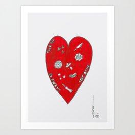 Doodle Heart Art Print