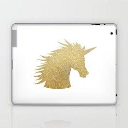 Gold Glitter Unicorn Laptop & iPad Skin