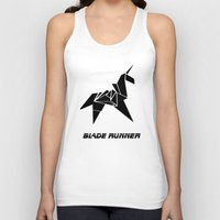 blade runner Tank Tops featuring Blade Runner - Rachel's Origami by Thecansone