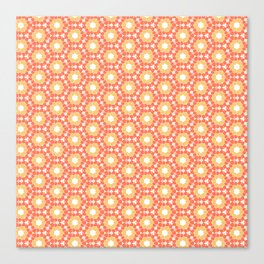 Peachy Geo  Canvas Print