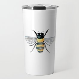 Bee Watercolor Travel Mug