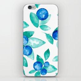 Blueberry Pattern iPhone Skin