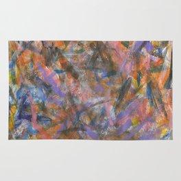 Dark Moods Brushstroke Abstract Rug