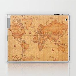 World Map LeaTher Laptop & iPad Skin