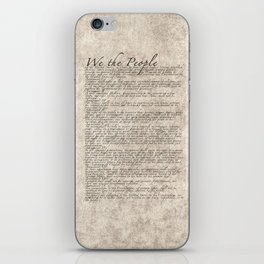 United States Bill of Rights (US Constitution) iPhone Skin