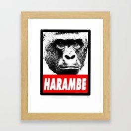 Harambe The Gorilla Framed Art Print