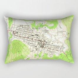 Vintage Map of Aspen Colorado (1960) Rectangular Pillow