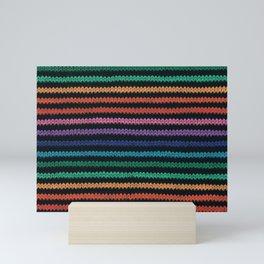 Knitted rainbow Mini Art Print