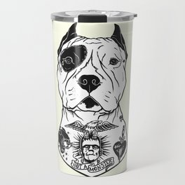 American Pitbull Tattooed Travel Mug