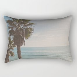 palm tree and ocean. California Vacation Rectangular Pillow