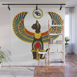 Winged Bast w/Ankh Wall Mural