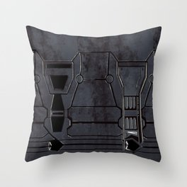 Rusty Mech Texture Throw Pillow