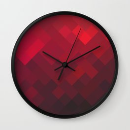 Red Impulse Wall Clock