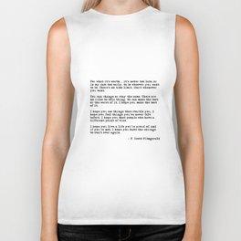 For what it's worth - F Scott Fitzgerald quote Biker Tank