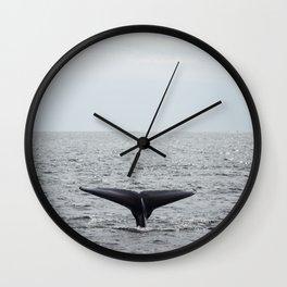 A whale salute Wall Clock