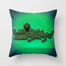 Night Habitat ...Baby Caiman Throw Pillow