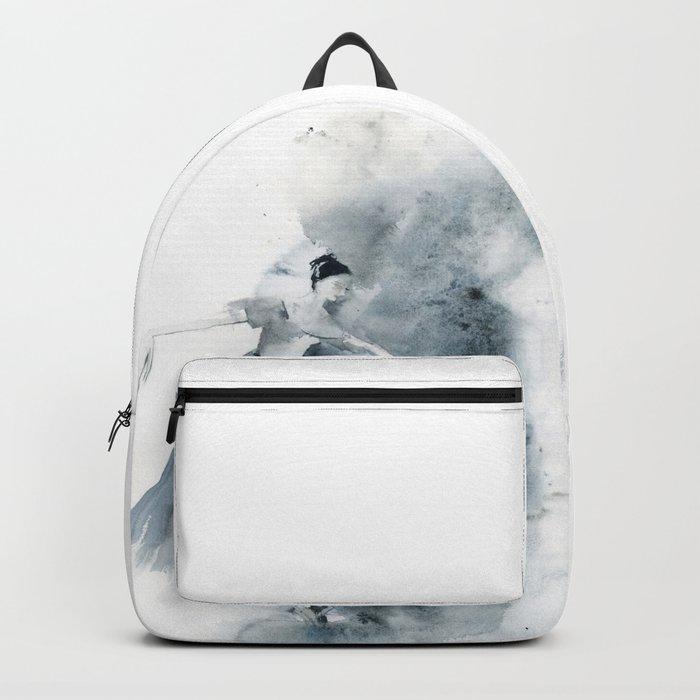 Ballerina in Blue Backpack