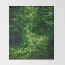 Emerald Forest Throw Blanket