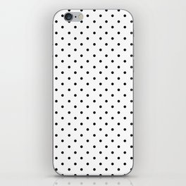 Minimal - Small black polka dots on white - Mix & Match with Simplicty of life iPhone Skin