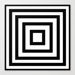Black or White squares Canvas Print