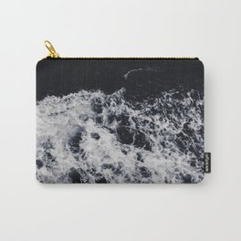 OCEAN - WAVES - SEA - ROCKS - DARK - WATER Carry-All Pouch