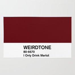 I Only Drink Merlot Rug
