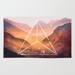 The Elements Geometric Nature Element of Fire Rug