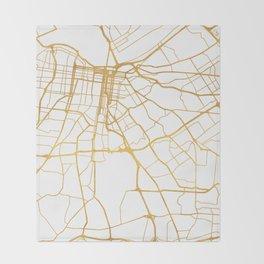 LOUISVILLE KENTUCKY CITY STREET MAP ART Throw Blanket