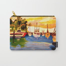 Lahaina Harbor Sunset Carry-All Pouch