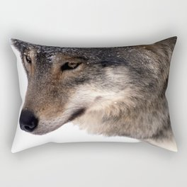 Wolf In the Snow Rectangular Pillow