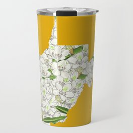 West Virginia in Flowers Travel Mug