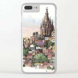 Sunset over San Miguel de Allende Clear iPhone Case