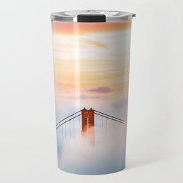 Golden Gate Bridge at Sunrise from Hawk Hill - San Francisco, California Travel Mug
