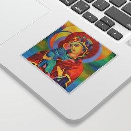 Virgin Mary Painting Madonna and Child Jesus icon Modern Catholic Religious Sticker