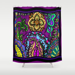 Moroccan inspired flowers Shower Curtain