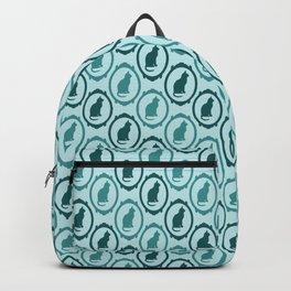 Victorian Cat Print Backpack