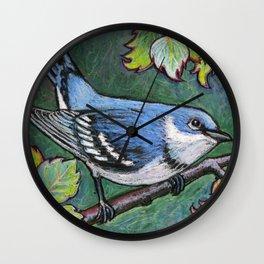 Cerulean Warbler Wall Clock