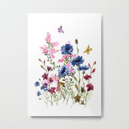 Wildflowers IV Metal Print
