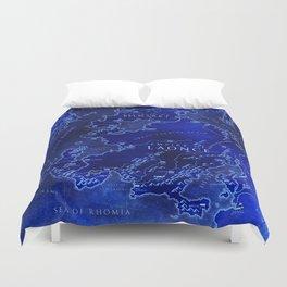 map blue Duvet Cover