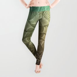 Togetherness, Fractal Art Abstract Leggings